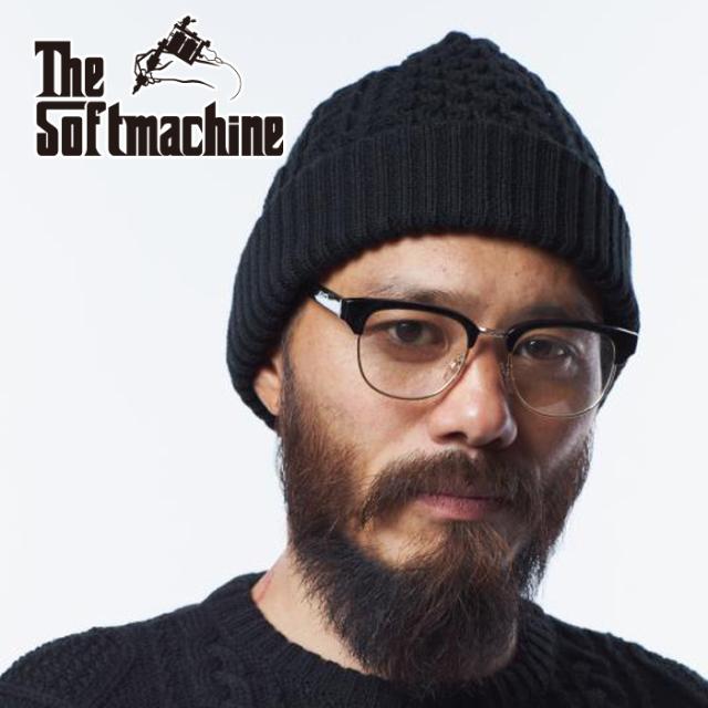SOFTMACHINE(ソフトマシーン) CRUSE KNIT CAP 【ニットキャップ】【ブラック レッド タトゥー】【2021 AUTUMN&WINTER 先行予約】
