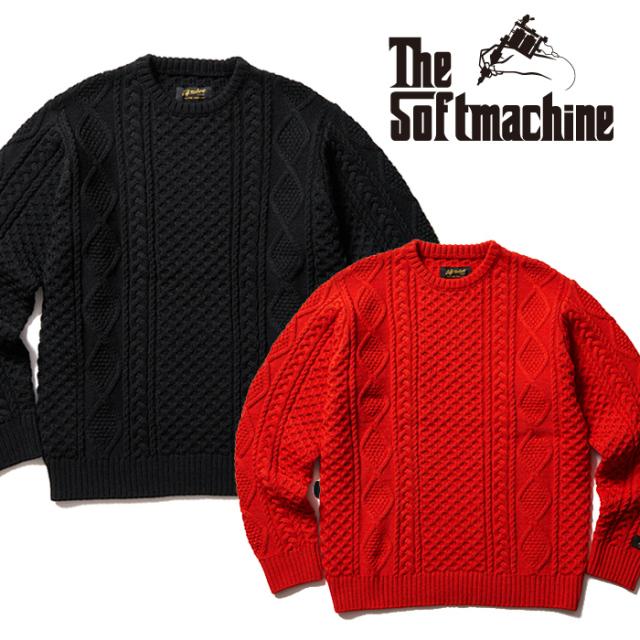 SOFTMACHINE(ソフトマシーン) CRUSE SWEATER 【セーター】【ブラック レッド タトゥー】【2021 AUTUMN&WINTER 先行予約】【キャン