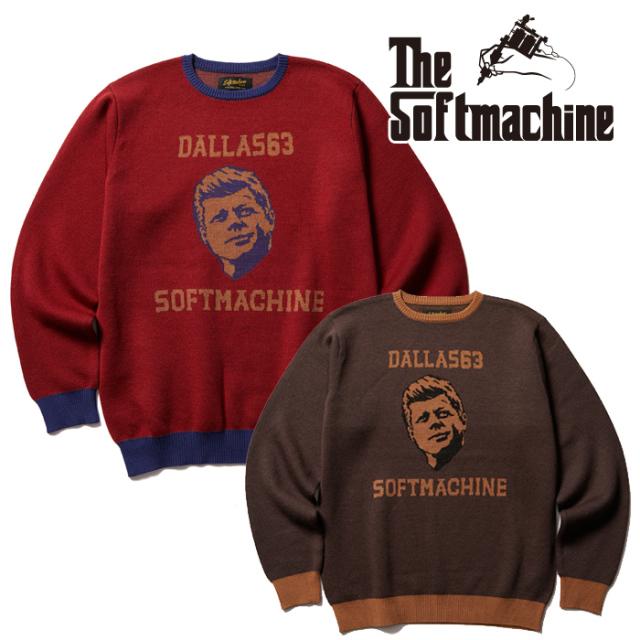SOFTMACHINE(ソフトマシーン) DALLAS SWEATER 【セーター】【レッド ブラウン タトゥー】【2021 AUTUMN&WINTER 先行予約】【キャ