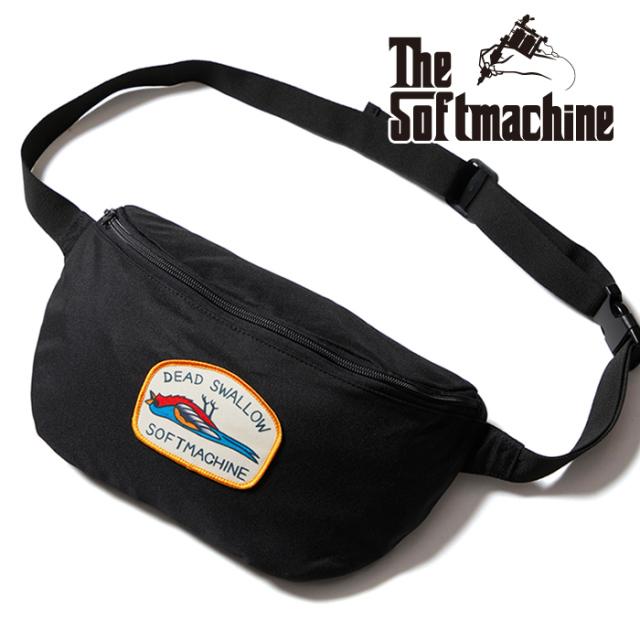 SOFTMACHINE (ソフトマシーン)  DEAD SWALLOW WEST BAG 【ウェストバッグ】【ブラック タトゥー】【2021 AUTUMN&WINTER 新作】