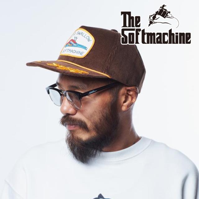SOFTMACHINE(ソフトマシーン) DEAD SWALLOW CAP 【キャップ】【ブラック グリーン ブラウン タトゥー】【2021 AUTUMN&WINTER 先行