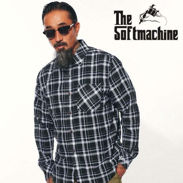 SOFTMACHINE(ソフトマシーン) DIVISADERO SHIRTS 【シャツ 長袖】【ブラック ブラウン ブルー タトゥー】【2021 SPRING&SUMMER先行