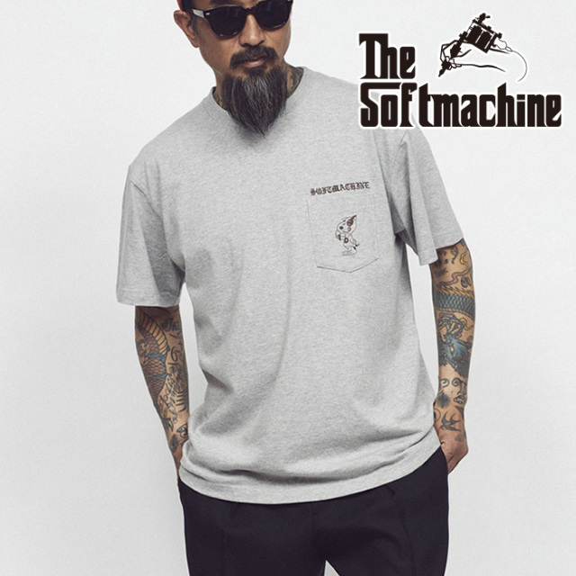 SOFTMACHINE(ソフトマシーン) DOYLE-PT(T-SHIRTS) 【ポケットTシャツ 半袖】【グレー ホワイト タトゥー】【2021 SUMMERVACATION先