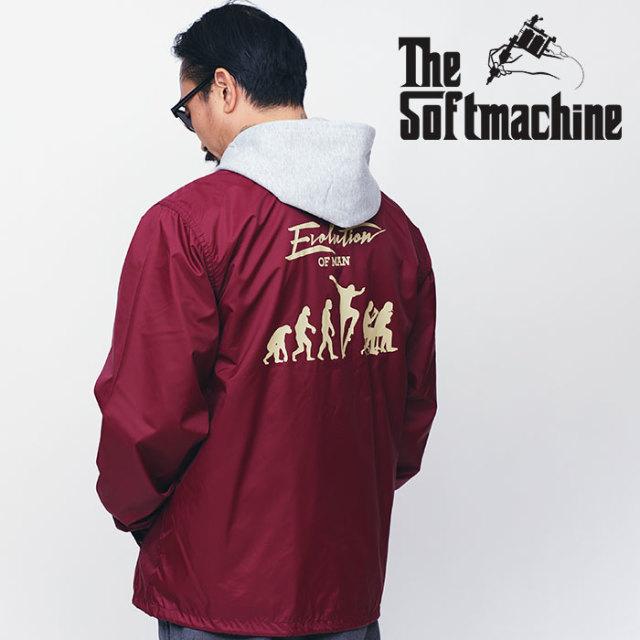 SOFTMACHINE(ソフトマシーン) EVOLUTION JK 【コーチジャケット】【ブラック グレー バーガンディ タトゥー】【送料無料】 【2020