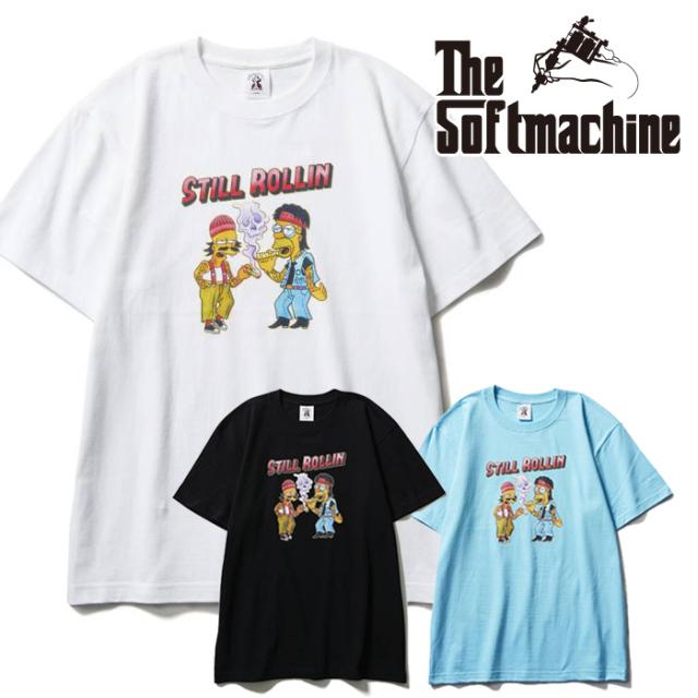 SOFTMACHINE(ソフトマシーン) FUMAR-T(T-SHIRTS) 【Tシャツ 半袖】【ブラック ホワイト ブルー タトゥー】【2021 SUMMERVACATION新