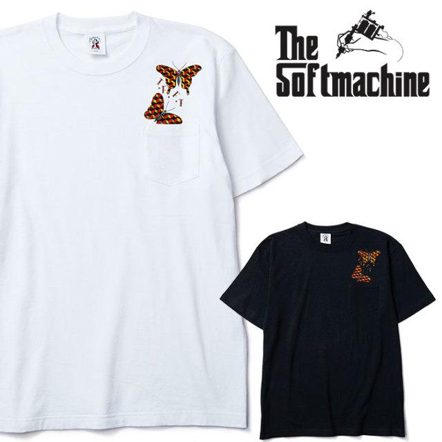 SOFTMACHINE(ソフトマシーン) GEOMETRIC BUTTERFLY-T 【Tシャツ】【ホワイト ブラック タトゥー】【2020SPRING&SUMMER先行予約】【