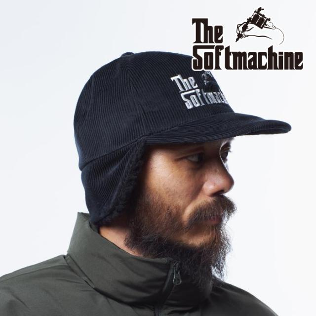 SOFTMACHINE(ソフトマシーン) GOD BOA CAP 【ボアキャップ】【ブラック バーガンディ タトゥー】【2021 AUTUMN&WINTER 先行予約】