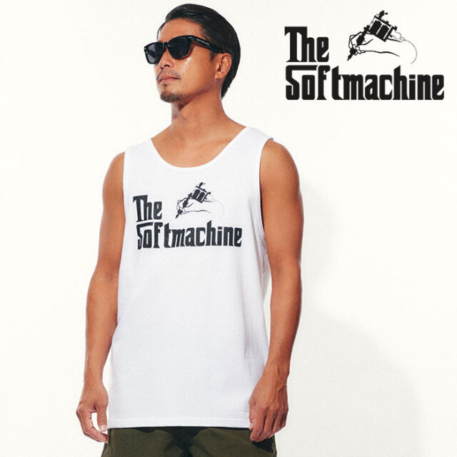 SOFTMACHINE(ソフトマシーン) GOD TANK 【タンクトップ】【ブラック ホワイト タトゥー】【2021 SPRING&SUMMER先行予約】【キャン