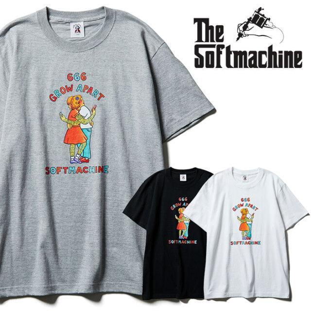 SOFTMACHINE(ソフトマシーン) GROW APART-T 【Tシャツ 半袖】【ブラック ホワイト グレー タトゥー】【2021 SPRING&SUMMER先行予約