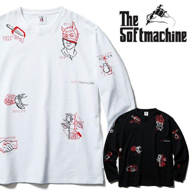 SOFTMACHINE(ソフトマシーン) ILLUSION L/S 【ロングスリーブTシャツ】【ブラック ホワイト タトゥー】【2021 SPRING&SUMMER先行予