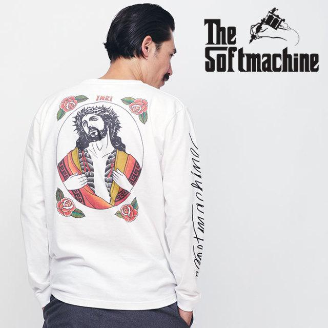 SOFTMACHINE(ソフトマシーン) INKED MESSIAH L/S 【ロングスリーブTシャツ 長袖】【ブラック ホワイト タトゥー】 【2020SPRING&S