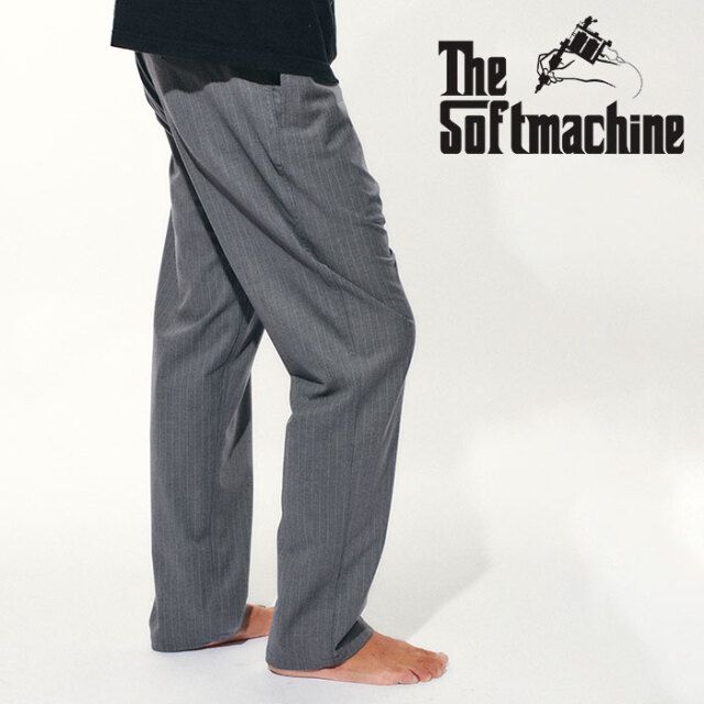 SOFTMACHINE(ソフトマシーン) LAVEY PANTS(SLACKS) 【スラックス パンツ】【オリーブ ブラック タトゥー】【2021 SPRING&SUMMER先