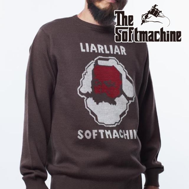 SOFTMACHINE(ソフトマシーン) LIAR SWEATER 【セーター】【ブラック ブラウン タトゥー】【2021 AUTUMN&WINTER 先行予約】【キャ