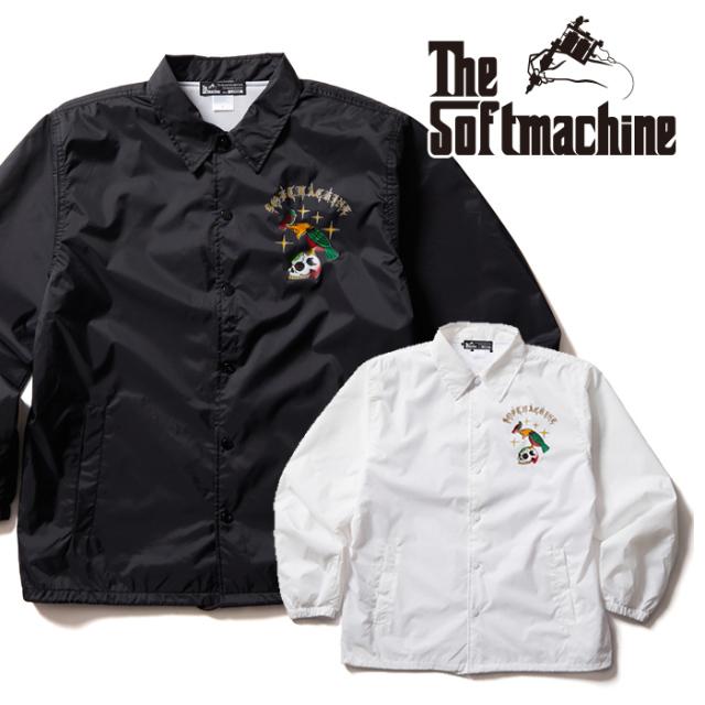 SOFTMACHINE(ソフトマシーン) LIKE WISE JK 【コーチジャケット】【ブラック ホワイト タトゥー】【2021 AUTUMN&WINTER 先行予約