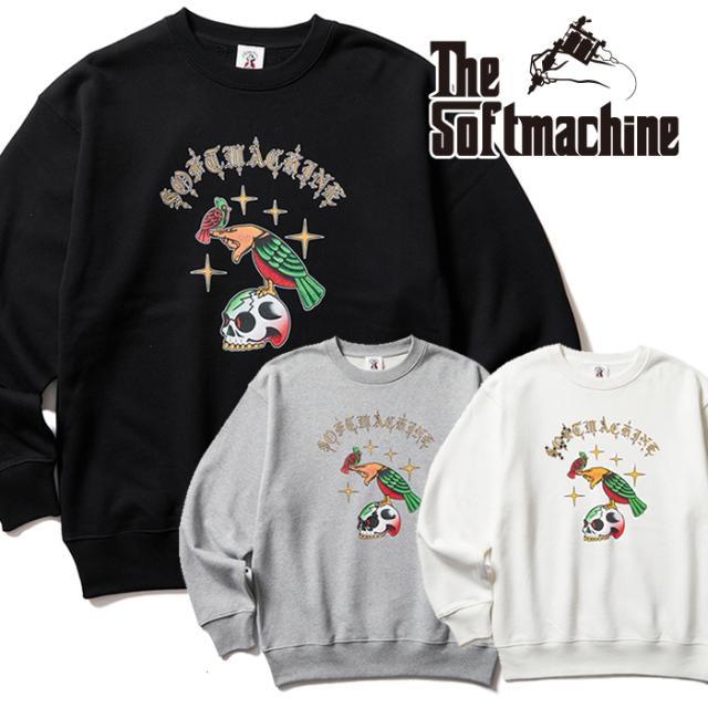 SOFTMACHINE (ソフトマシーン)  LIKE WISE SWEAT 【スウェット】【ブラック ホワイト グレー タトゥー】【2021 AUTUMN&WINTER 先