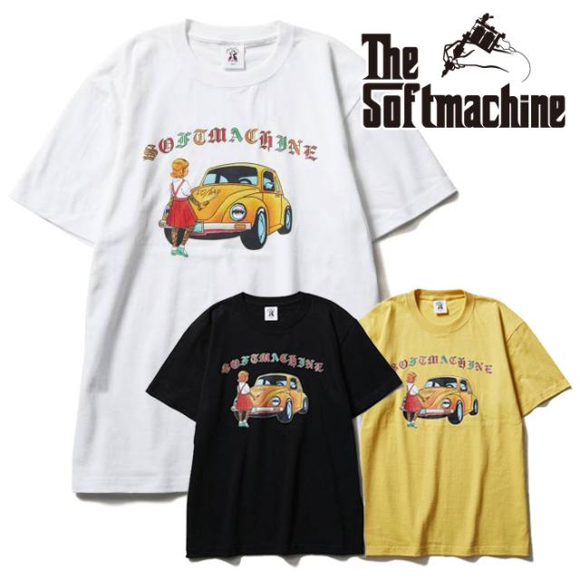 SOFTMACHINE(ソフトマシーン) LOVE DADDY-T(T-SHIRTS) 【Tシャツ 半袖】【ブラック ホワイト イエロー タトゥー】【2021 SUMMERVAC