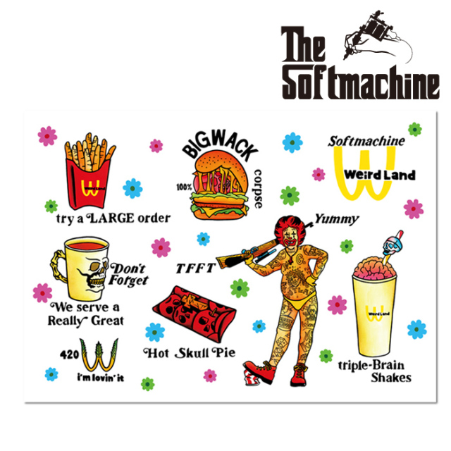 SOFTMACHINE(ソフトマシーン) LOVIN'IT STICKER SHEET(STICKER SHEET) 【ステッカーシート タトゥー】【2021 SUMMERVACATION先行予