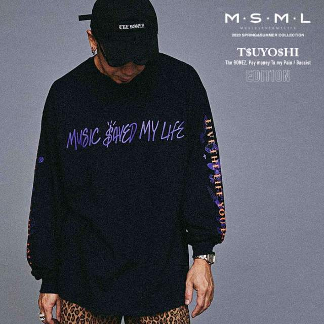 MSML(MUSIC SAVED MY LIFE)(エムエスエムエル) GRAPHIC LONG SLEEVE TEE 【ロングスリーブTシャツ】【ストリート ロック バンド】