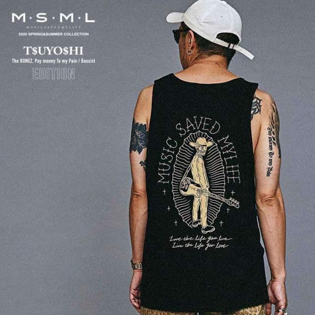 MSML(MUSIC SAVED MY LIFE)(エムエスエムエル) GRAPHIC TANK TOP 【タンクトップ】【ストリート ロック バンド】【送料無料】【M10