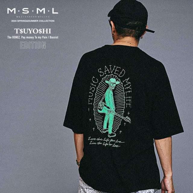 MSML(MUSIC SAVED MY LIFE)(エムエスエムエル) GRAPHIC BIG TEE 【ビッグTシャツ】【ストリート ロック バンド】【送料無料】【M10