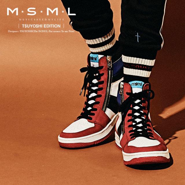MSML(MUSIC SAVED MY LIFE)(エムエスエムエル) ZIP SNEAKER  【スニーカー レザー】【ストリート ロック バンド】【送料無料】【M1
