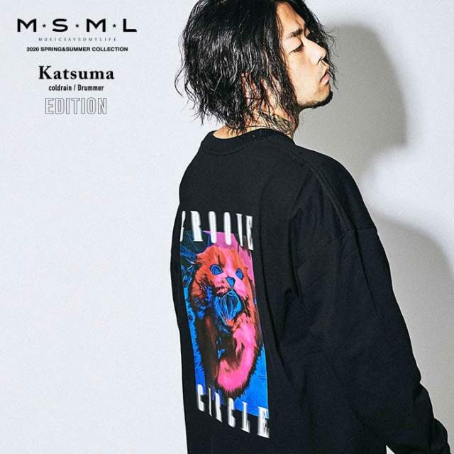 【SALE30%OFF】 MSML(MUSIC SAVED MY LIFE)(エムエスエムエル)  CAT OVERSIZED LONG SLEEVE TEE  【セール】【Tシャツ 長袖】【ス