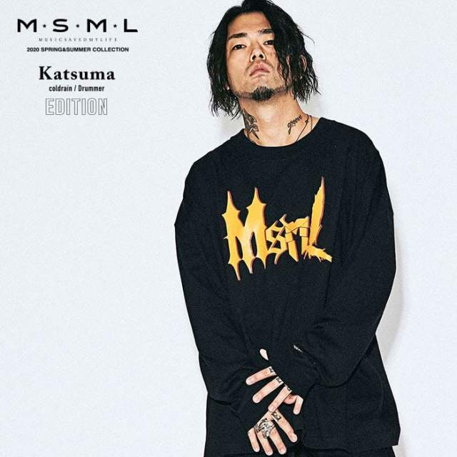 MSML(MUSIC SAVED MY LIFE)(エムエスエムエル)  LOGO OVERSIZED LONG SLEEVE TEE  【Tシャツ 長袖】【ストリートファッション ロッ