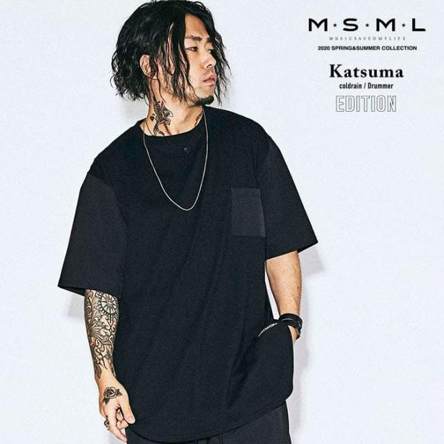 【SALE30%OFF】 MSML(MUSIC SAVED MY LIFE)(エムエスエムエル)  DIFFERENT MATERIAL CUTSEW 【Tシャツ 半袖】【セール】【ストリ