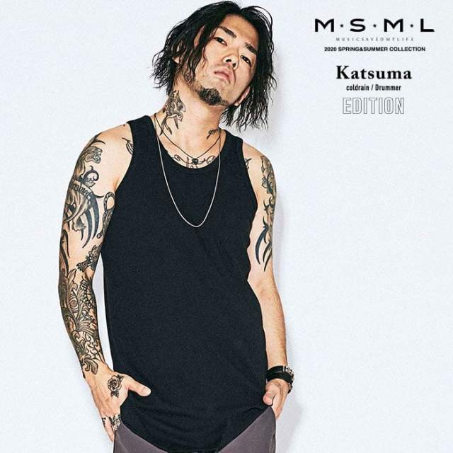 MSML(MUSIC SAVED MY LIFE)(エムエスエムエル)  LONG TANK TOP 【タンクトップ】【ストリートファッション ロック バンド】【送料