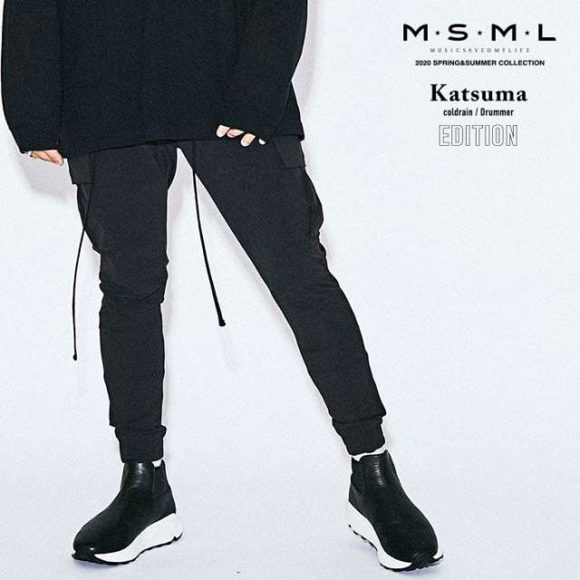 MSML(MUSIC SAVED MY LIFE)(エムエスエムエル)  NYLON SKINNY CARGO PANTS 【スキニーパンツ】【ストリートファッション ロック バ