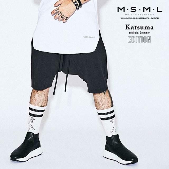 MSML(MUSIC SAVED MY LIFE)(エムエスエムエル)  NYLON SARROUEL SHORTS 【ショートパンツ】【ストリートファッション ロック バン