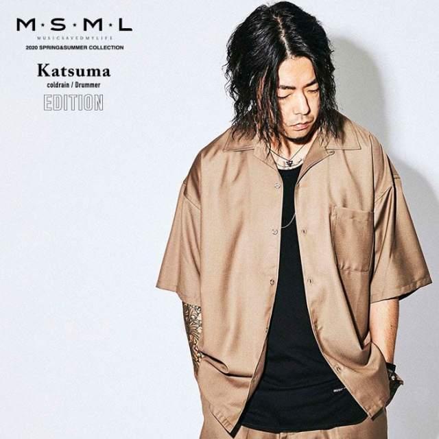 MSML(MUSIC SAVED MY LIFE)(エムエスエムエル)  OPEN COLLAR  SHORT SLEEVE SHIRT 【シャツ 半袖】【ストリートファッション ロッ