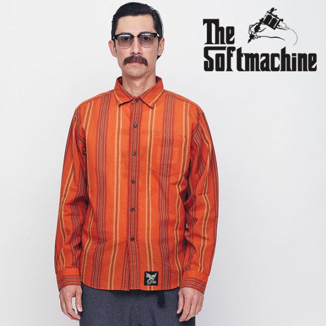 SOFTMACHINE(ソフトマシーン) MARFA SHIRTS L/S 【ロングスリーブシャツ】【イエロー オレンジ タトゥー】【送料無料】 【2020SPR