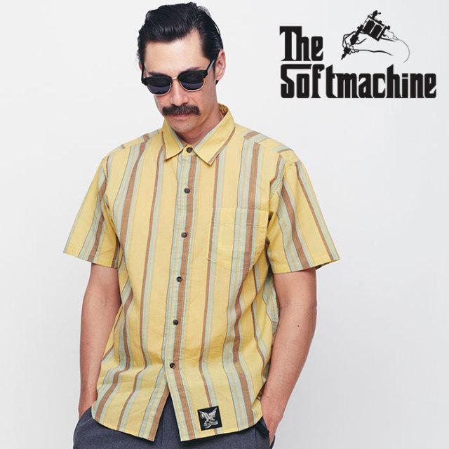 SOFTMACHINE(ソフトマシーン) MARFA SHIRTS S/S 【ショートスリーブシャツ】【イエロー オレンジ タトゥー】【送料無料】 【2020S