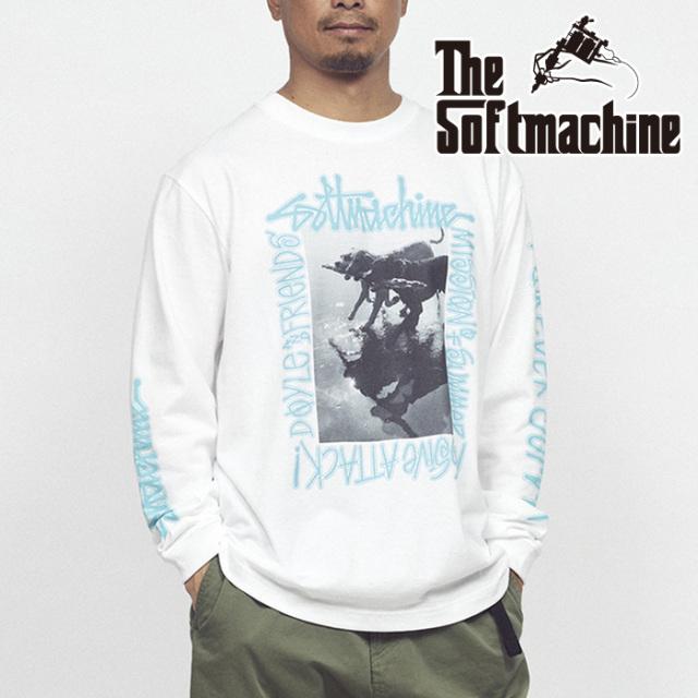 SOFTMACHINE(ソフトマシーン) MASSIVE L/S(L/S T-SHIRTS) 【Tシャツ 長袖】【ブラック ホワイト タトゥー】【2021 SUMMERVACATION