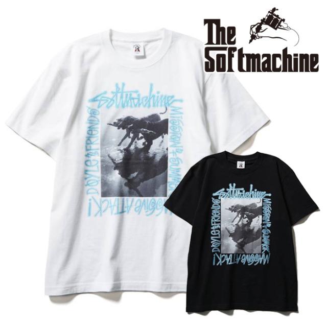 SOFTMACHINE(ソフトマシーン) MASSIVE-T(T-SHIRTS) 【Tシャツ 半袖】【ブラック ホワイト タトゥー】【2021 SUMMERVACATION先行予