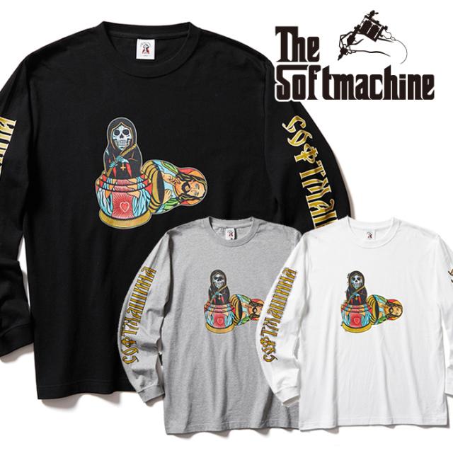 SOFTMACHINE (ソフトマシーン)  MATRYOSHKA L/S 【Tシャツ 長袖 ロンT】【ホワイト ブラック グレー タトゥー】【2021 AUTUMN&WIN