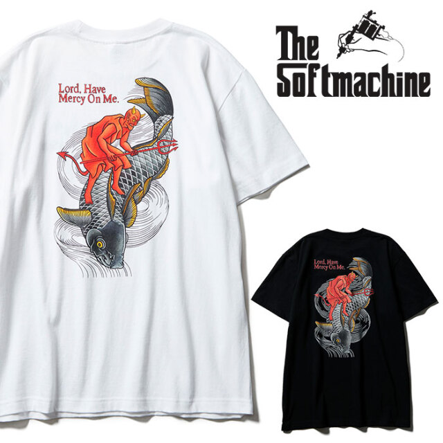 SOFTMACHINE(ソフトマシーン) MERCY-T 【Tシャツ 半袖】【ブラック ホワイト タトゥー】【2021 SPRING&SUMMER先行予約】【キャンセ
