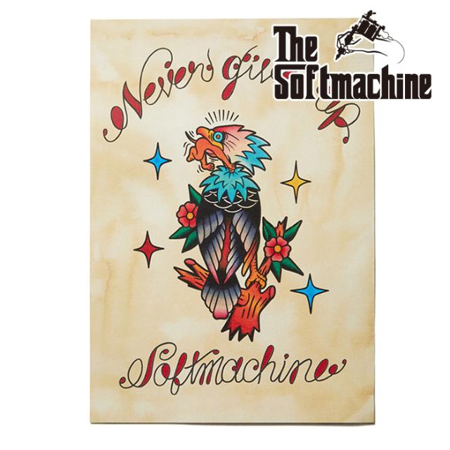 SOFTMACHINE (ソフトマシーン)  NEVER GIVE UP FLASH 【フラッシュ ポスター タトゥー】【2021 AUTUMN&WINTER 新作】