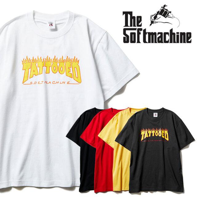 SOFTMACHINE(ソフトマシーン) NEW SKOOL-T 【Tシャツ 半袖】【ブラック ホワイト イエロー タトゥー】【2021 SPRING&SUMMER先行予