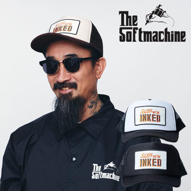 SOFTMACHINE(ソフトマシーン) NOTICE MESH CAP 【メッシュキャップ】【ブラック ホワイト タトゥー】【送料無料】 【2020SPRING&S