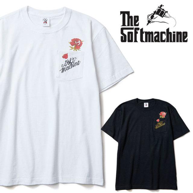 SOFTMACHINE(ソフトマシーン) OUT BLOOM-T 【Tシャツ】【ホワイト ブラック タトゥー】【2020SPRING&SUMMER先行予約】【キャンセル