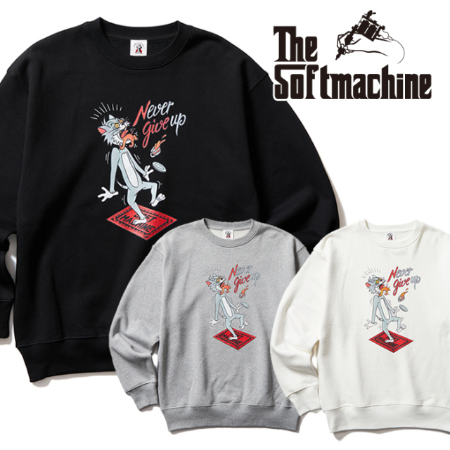 SOFTMACHINE (ソフトマシーン)  PAY BACK SWEAT 【スウェット】【ブラック ホワイト グレー タトゥー】【2021 AUTUMN&WINTER 新作