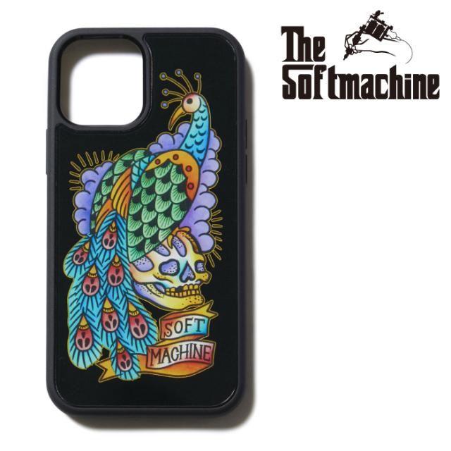 SOFTMACHINE (ソフトマシーン)  PEACOCK iPhone CASE 【アイフォンケース】【ブラック タトゥー】【2021 SUMMERVACATION新作】