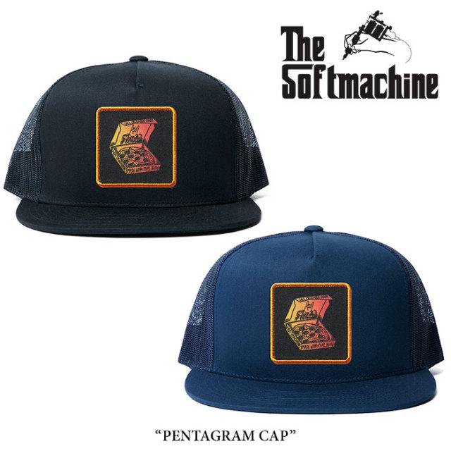 【SALE】 SOFTMACHINE(ソフトマシーン) PENTAGRAM CAP(MESH CAP) 【2018SPRING/SUMMER新作】 【即発送可能】 【SOFTMACHINE メ