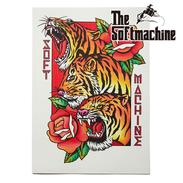 SOFTMACHINE (ソフトマシーン)  PHARAOH TIGERS FLASH 【フラッシュ ポスター タトゥー】【2021 AUTUMN&WINTER 新作】