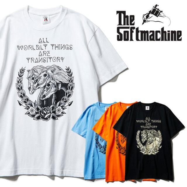 SOFTMACHINE(ソフトマシーン) PHARAOH BONES-T 【Tシャツ 半袖】【ブラック ホワイト オレンジ タトゥー】【2021 SPRING&SUMMER先