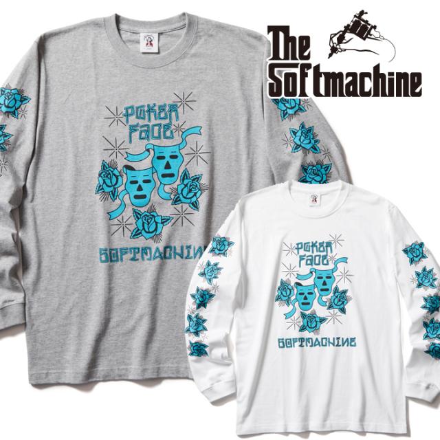 SOFTMACHINE (ソフトマシーン)  POKER FACE L/S 【ロンT Tシャツ 長袖】【ホワイト グレー タトゥー】【2021 AUTUMN&WINTER 新作