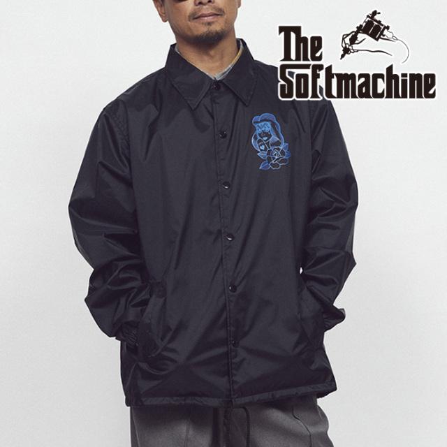 SOFTMACHINE (ソフトマシーン)  PROMESA JK(COARCH JACKET) 【コーチジャケット】【ホワイト ブラック タトゥー】【2021 SUMMERVAC