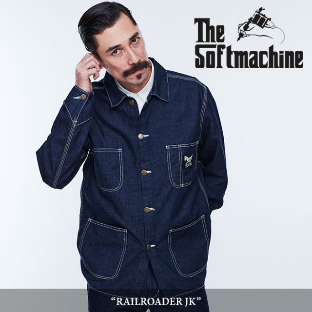 SOFTMACHINE(ソフトマシーン) RAILROADER JK(COVERALL JACKET) 【2018SPRING/SUMMER先行予約】 【キャンセル不可】【送料無料】